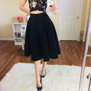 NEW! Black A Line Midi Swing Skirt   Plus Size 0